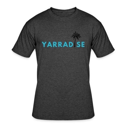 Yarradise Palm: Blue text - Men's 50/50 T-Shirt