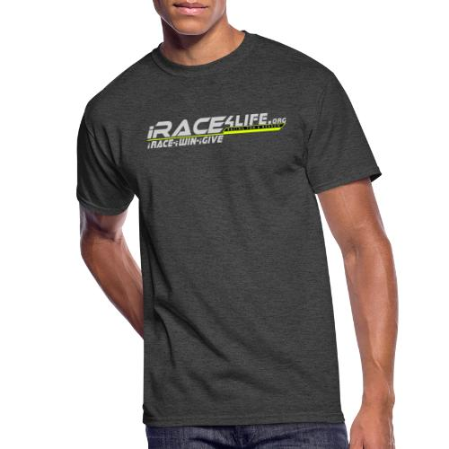 iRace4Life.org Gray Logo w/ iRace-iWin-iGive! - Men's 50/50 T-Shirt