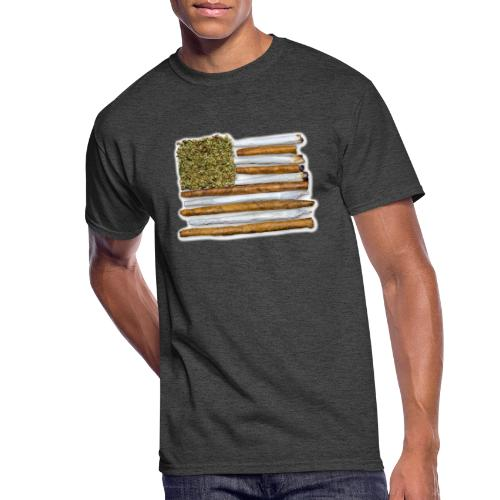 American Flag With Joint - Men's 50/50 T-Shirt