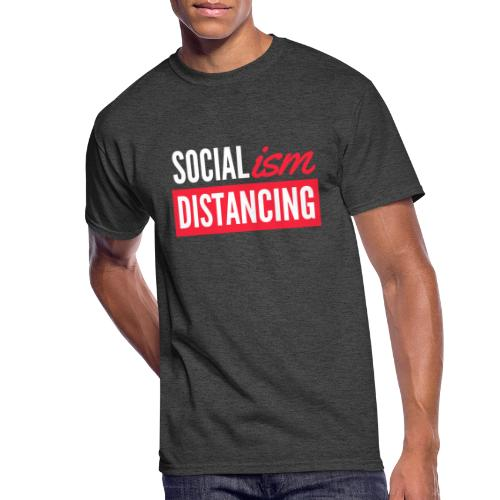SOCIALism DISTANCING - Men's 50/50 T-Shirt