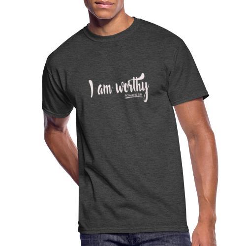 I am worth Romans 5:8 - Men's 50/50 T-Shirt