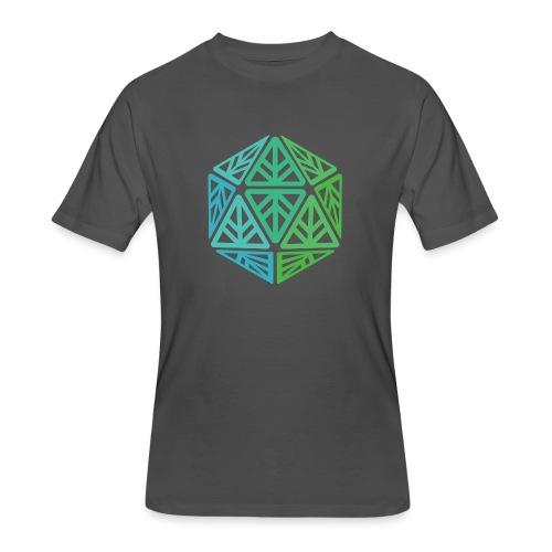 Green Leaf Geek Iconic Logo - Men's 50/50 T-Shirt