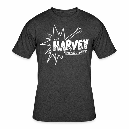 Band Logo - White - Front and Back - Men's 50/50 T-Shirt