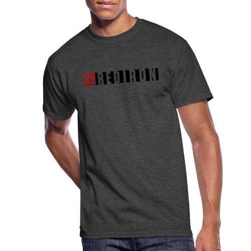 Red Iron Horizontal Duo Logo (Black) - Men's 50/50 T-Shirt