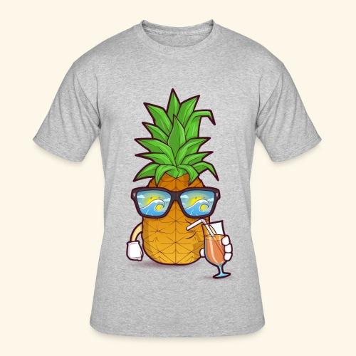 Pinapple Blue Sea - Men's 50/50 T-Shirt