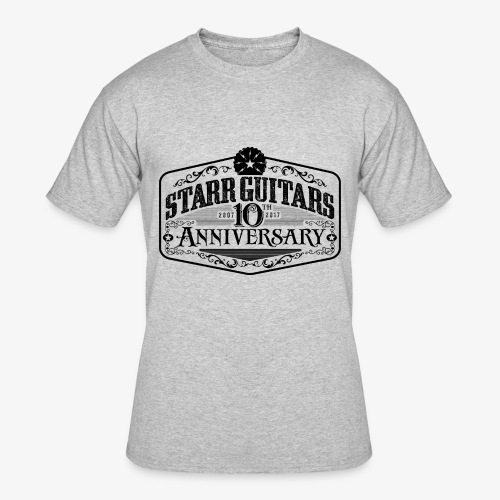 Starr Guitars 10th Anniversary Black Logo - Men's 50/50 T-Shirt