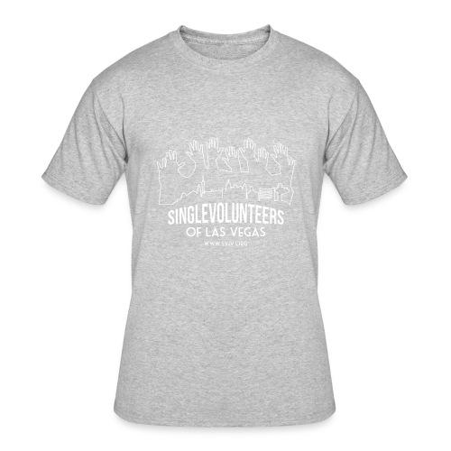 White logo SVLV - Men's 50/50 T-Shirt
