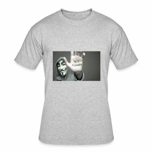 ANONYMOUS PRINTED T-SHIRT FOR MEN - Men's 50/50 T-Shirt