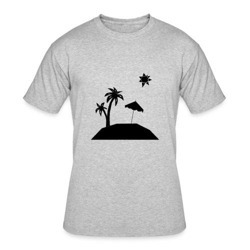 Beach Silhouette - Men's 50/50 T-Shirt