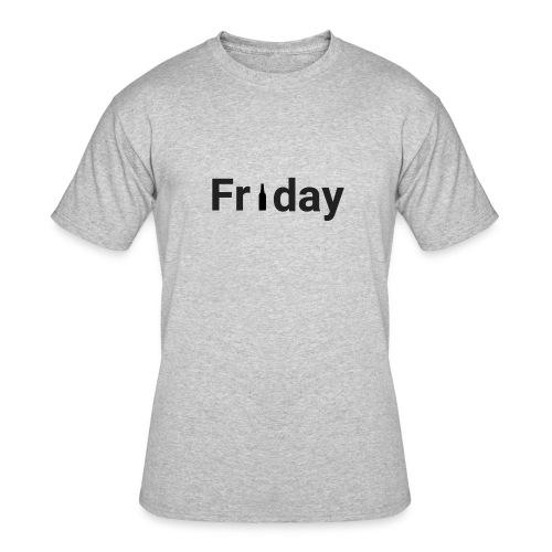 Friday custom print tshirt for men - Men's 50/50 T-Shirt
