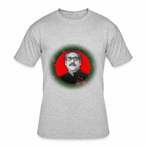 Bangabandhu inside red circle of flag - Men's 50/50 T-Shirt