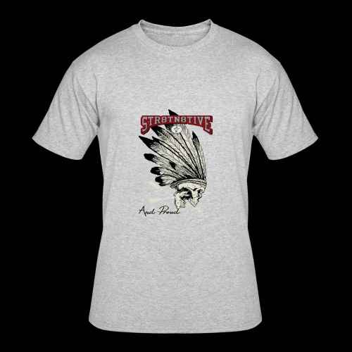 STRAIGHT NATIVE SKULL - Men's 50/50 T-Shirt