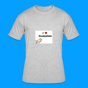 Cockatiels - Men's 50/50 T-Shirt
