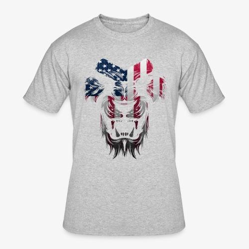 American Flag Lion Shirt - Men's 50/50 T-Shirt
