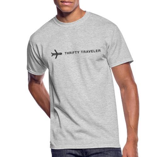 Thrifty Traveler Black Logo - Men's 50/50 T-Shirt