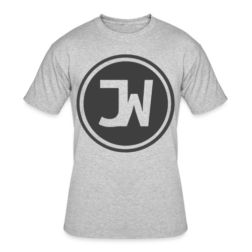 Grey Johannes With Logo - Men's 50/50 T-Shirt