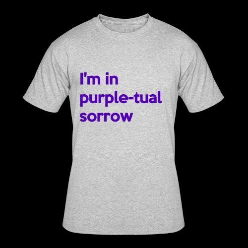 Purple-tual sorrow - Men's 50/50 T-Shirt