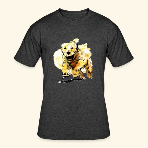 oil dog - Men's 50/50 T-Shirt
