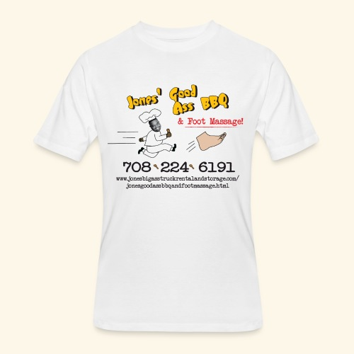 Jones Good Ass BBQ and Foot Massage logo - Men's 50/50 T-Shirt