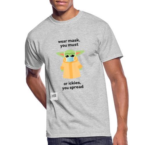 Baby Yoda (The Child) says Wear Mask - Men's 50/50 T-Shirt