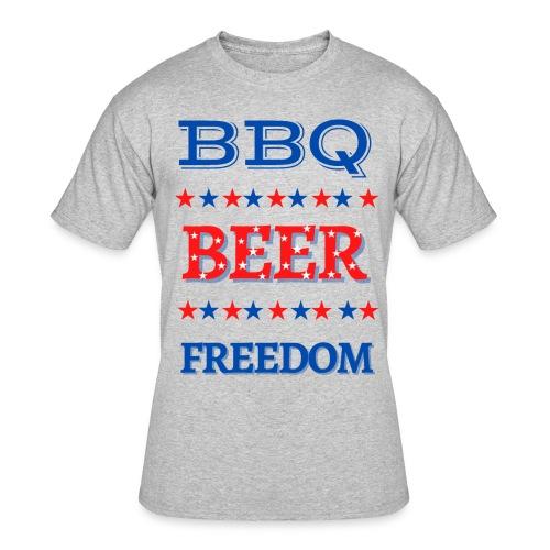BBQ BEER FREEDOM - Men's 50/50 T-Shirt