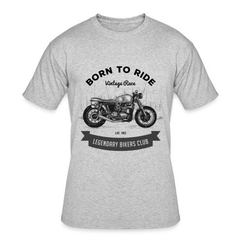 Born to ride Vintage Race T-shirt - Men's 50/50 T-Shirt