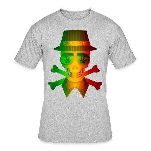 Rasta Man Rebel - Men's 50/50 T-Shirt