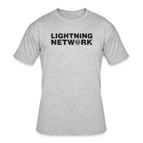 Lightning Network Bitcoin Tshirt - Men's 50/50 T-Shirt