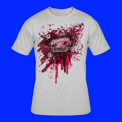 Vintage Cannonball Bingo Drip Red - Men's 50/50 T-Shirt