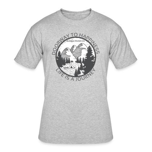 Life is a Journey Design - Men's 50/50 T-Shirt