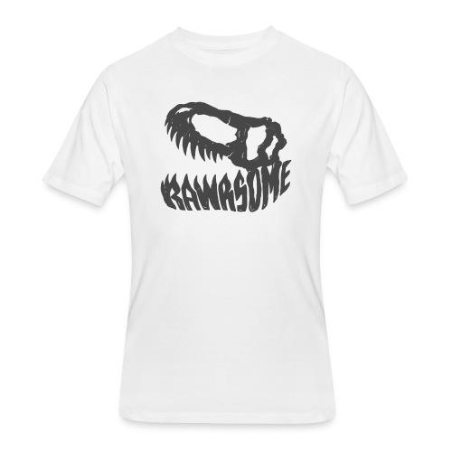 RAWRsome T Rex Skull by Beanie Draws - Men's 50/50 T-Shirt