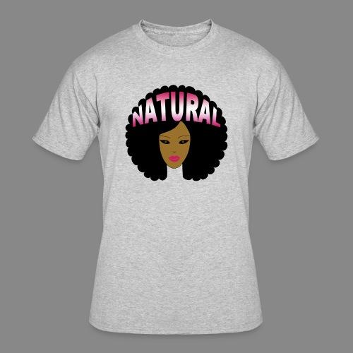 Natural Afro (Pink) - Men's 50/50 T-Shirt