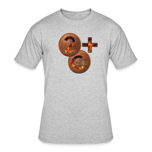 2cents plus logo1 - Men's 50/50 T-Shirt