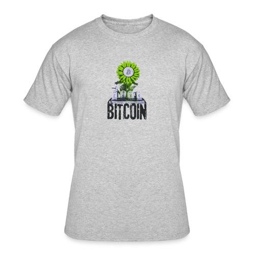Bitcoin Banksy Street Art Tshirt - Men's 50/50 T-Shirt