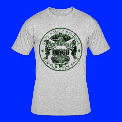 Vintage Cannonball Bingo Badge Dark Green - Men's 50/50 T-Shirt