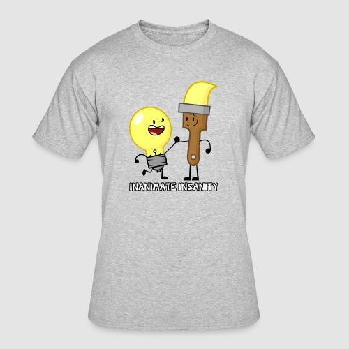 Lightbulb Paintbrush Duo - Men's 50/50 T-Shirt