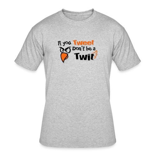 leafBuilder If You Tweet Don't be a Twit - Men's 50/50 T-Shirt