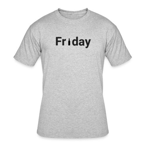 Friday custom print tshirt for men - Men's 50/50 T-Shirt