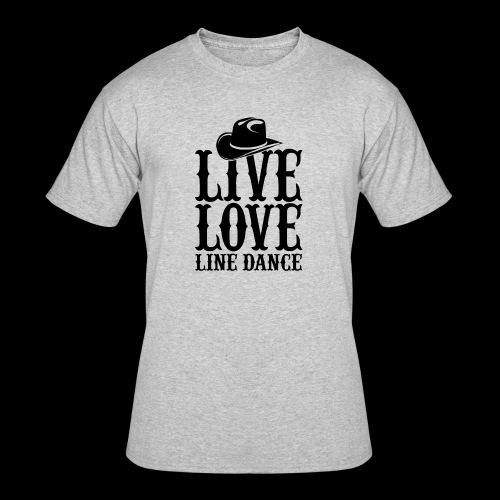 Live Love Line Dancing - Men's 50/50 T-Shirt