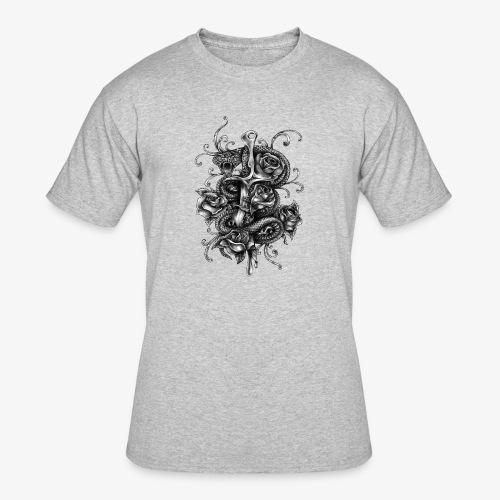 Dagger And Snake - Men's 50/50 T-Shirt
