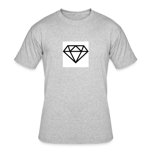 diamond outline 318 36534 - Men's 50/50 T-Shirt