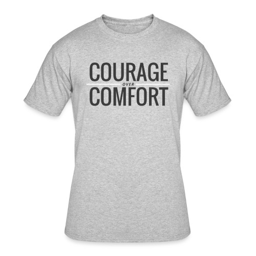 COURAGEcomfort white larg - Men's 50/50 T-Shirt