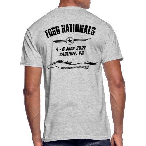 Ford Nationals 2021 with Mustang Flag - Men's 50/50 T-Shirt