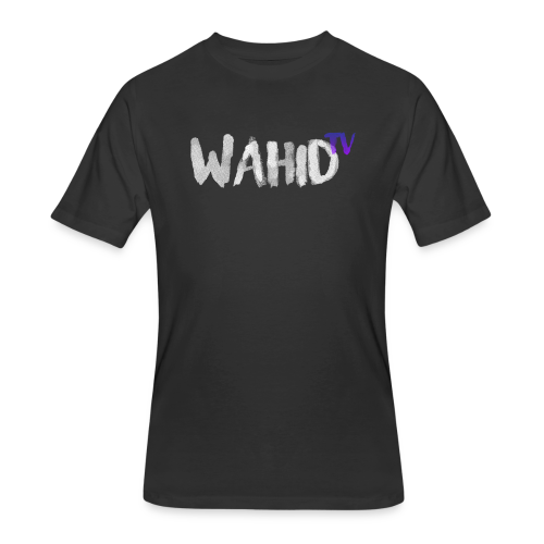WahidTV Text Logo - Men's 50/50 T-Shirt