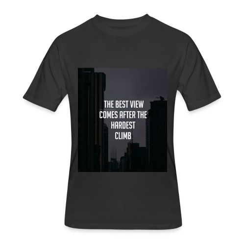 THE BEST VIEW COMES AFTER THE HARDEST CLIMB - Men's 50/50 T-Shirt