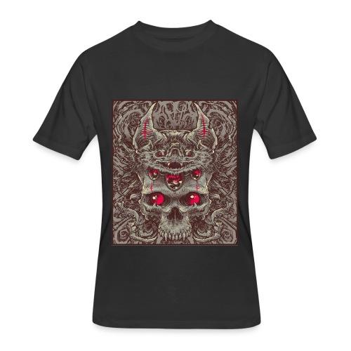 Bat and Skull - Men's 50/50 T-Shirt