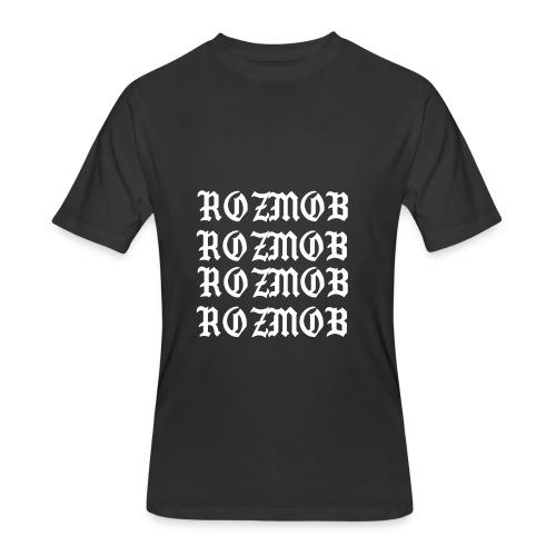 ROZMOB DESIGNER TYPE - Men's 50/50 T-Shirt