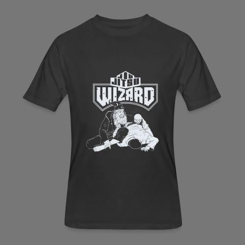 Jiu Jitsu Wizard- Crystal ball-o-plata - Men's 50/50 T-Shirt