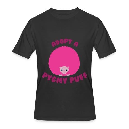 Adopt a Pygmy Puff Logo - Men's 50/50 T-Shirt
