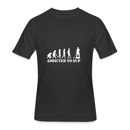 EvolutionAddictedtoSUPWhite - Men's 50/50 T-Shirt